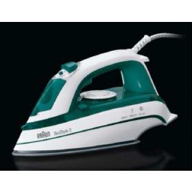 Braun TS 345 Ferro da stiro a secco e a vapore Ceramica 2000W Verde, Bianco