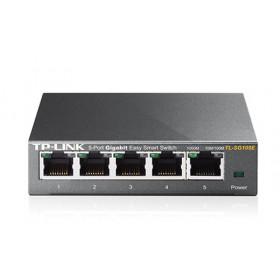 TP-LINK TL-SG105E switch di rete L2 Gigabit Ethernet (10/100/1000) Nero