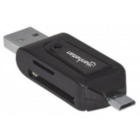 Manhattan 406215 lettore di schede Nero USB/Micro-USB