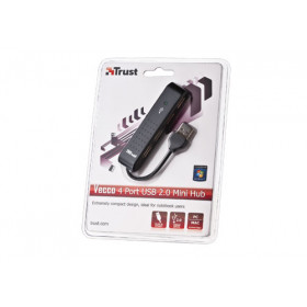 Trust Vecco perno e concentratore 480 Mbit/s Nero