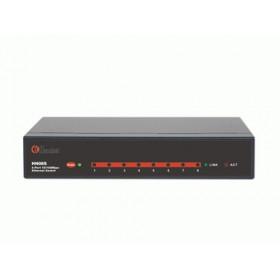 Hamlet Switch di rete a 8 porte riconoscimento automatico velocità di rete 10/100 Mbps in metallo