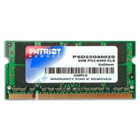 Patriot Memory DDR2 2GB CL5 PC2-6400 (800MHz) SODIMM memoria