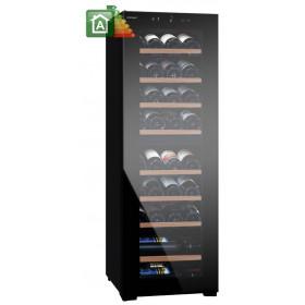 VINUMDesign Cantina vino VD40D-FG con porta full glass nera