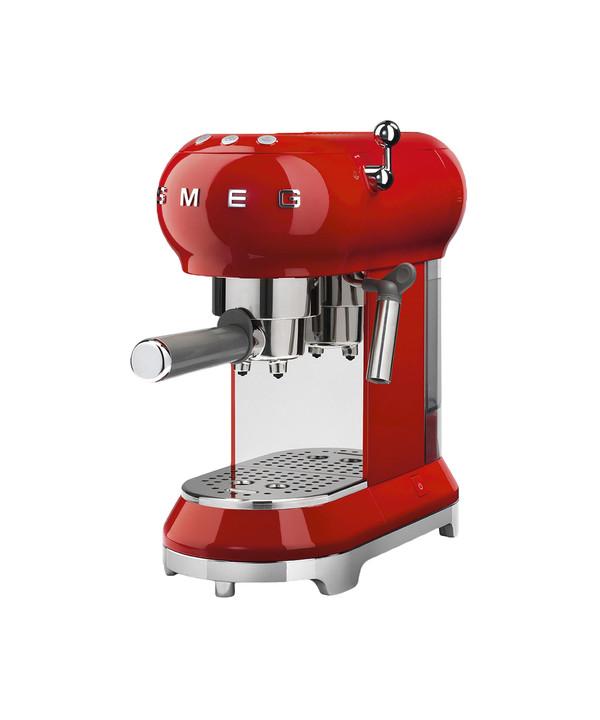 Smeg ECF01RDEU macchina per caffè Libera installazione Macchina per espresso Cromo, Rosso 1 L 2 tazze Semi-automatica