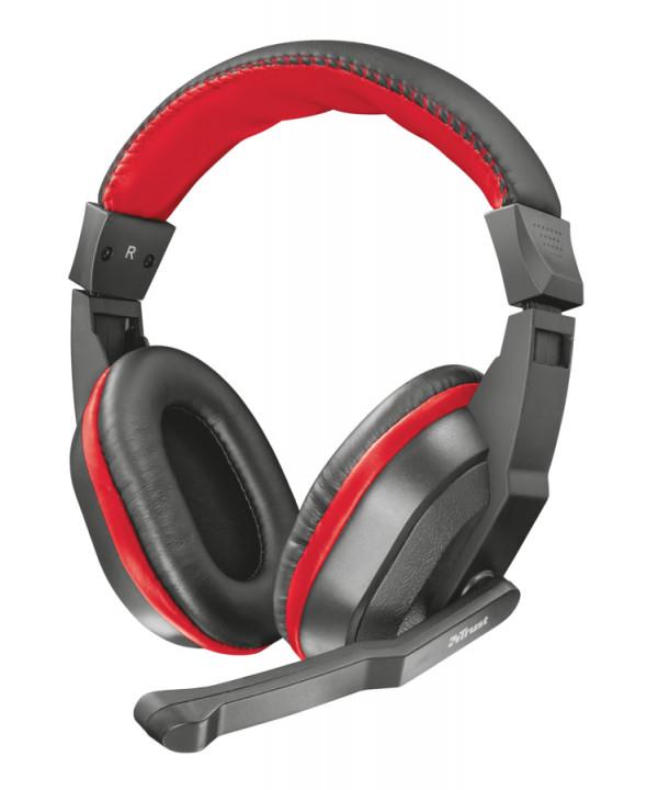 Trust 21953 cuffia con microfono Gaming Padiglione Nero, Rosso TRUST ZIVA PER PS4 XBOX PC COMPUTER
