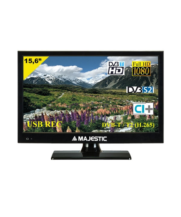 "New Majestic TVD 215/S2 LED MP08 15.6"" HD Nero LED TV"