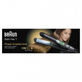 Braun Satin Hair 7 ST710 Straightening iron Caldo Nero 2m