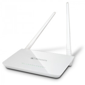 Atlantis Land A02-RA144-W300Nplus router wireless Banda singola (2.4 GHz) Fast Ethernet Blu, Bianco