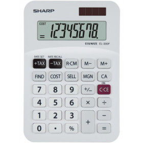 Sharp EL-330FB calcolatrice Tasca Calcolatrice finanziaria Grigio