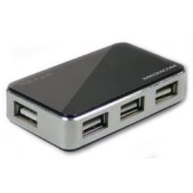 Mediacom HUB USB 2.0 480Mbit/s Nero
