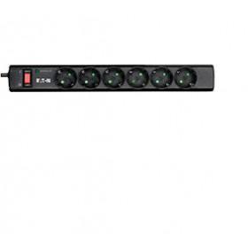 Eaton PS6D protezione da sovraccarico 6 presa(e) AC 220 - 250 V Nero, Bianco 1 m