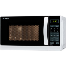 Sharp R-642 WW Superficie piana Microonde con grill 20 L 800 W Bianco