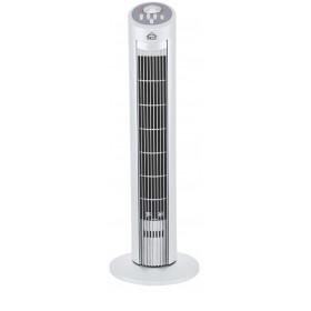 DCG Eltronic VE9095 Ventilatore a torre domestico 45W Nero, Bianco ventilatore