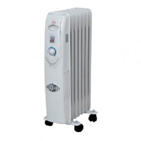 DCG Eltronic RA2807 stufetta elettrica Radiatore Nero, Bianco 1500 W