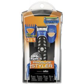 Gillette ProGlide Styler Trimmer Nero, Blu rasoio elettrico
