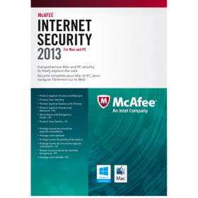 McAfee Internet Security 2013 DUAL MAC/Windows 1 utenti