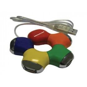 Mediacom M-HU2C4 480Mbit/s Multicolore perno e concentratore