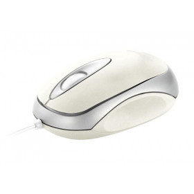 Trust Mini Travel - White mouse USB Ottico