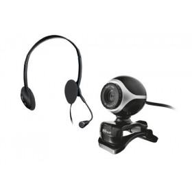 Trust Exis Chatpack webcam 640 x 480 Pixel Nero, Argento