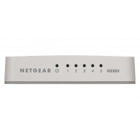 Netgear GS205 Unmanaged network switch Gigabit Ethernet (10/100/1000) Bianco