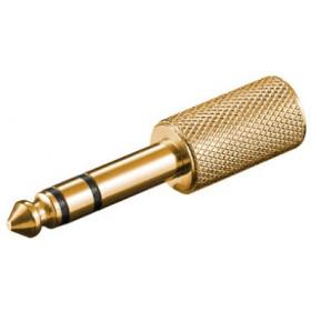 Goobay A 170 G 3.5mm 6.35mm Oro cavo di interfaccia e adattatore