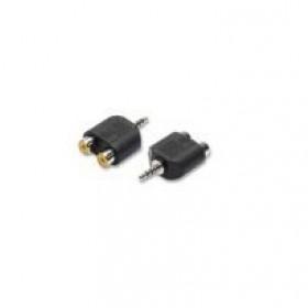 nuovaVideosuono 3.5mm-2xRCA M-F 3,5 mm 2 x RCA Nero cavo di interfaccia e adattatore