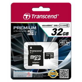 Transcend 32GB microSDHC Class 10 UHS-I memoria flash Classe 10