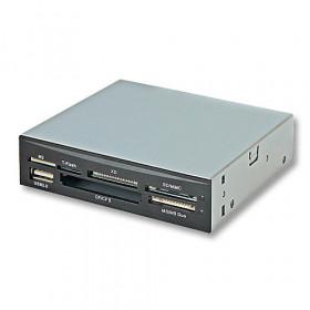 Lindy 42729 lettore di schede Interno Nero, Argento USB 2.0