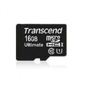 Transcend 16GB microSDHC Class 10 UHS-I (Ultimate) memoria flash Classe 10 MLC