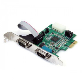 StarTech.com Scheda adattatore Seriale PCI express PCIe Nativa a 2 porte RS-232 con 16950 UART