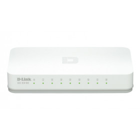 D-Link GO-SW-8E switch di rete No gestito Fast Ethernet (10/100) Bianco