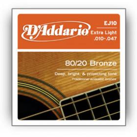 D'Addario EJ10 corda per strumenti musicali Chitarra Acciaio Acustico 6 pezzo(i)