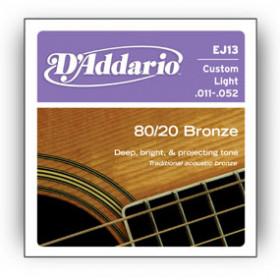 D'Addario EJ13 corda per strumenti musicali Chitarra Acciaio Acustico 6 pezzo(i)