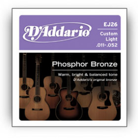 D'Addario EJ26 corda per strumenti musicali Chitarra Acciaio Acustico 6 pezzo(i)