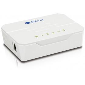 Digicom SWF05-T01 Fast Ethernet (10/100) Bianco