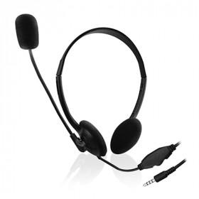 Ewent EW3567 auricolare per telefono cellulare Stereofonico Padiglione auricolare Nero