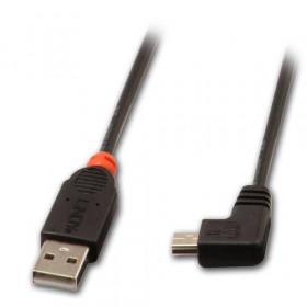 Lindy USB 2.0, 0.5m cavo USB 0,5 m USB A Mini-USB B Nero