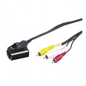 Wentronic AVK 407-200 2.0m 2m SCART (21-pin) 4 x RCA