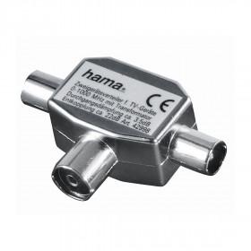 Hama 7122469 Cable combiner Argento cavo splitter o combinatori