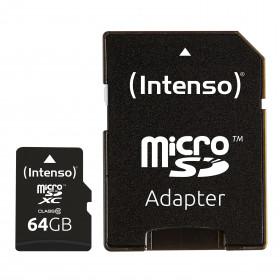 Intenso 64GB MicroSDHC memoria flash Classe 10