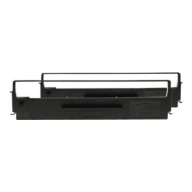 Epson SIDM Black Ribbon Cartridge for LQ-350/300+/300+II, Dualpack (C13S015646)