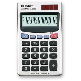 Sharp EL-379SB Tasca Calcolatrice di base Bianco calcolatrice