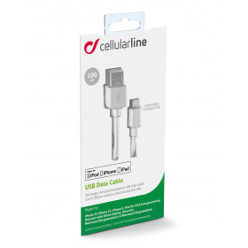 Cellularline USB Data Cable For Tablets - Lightning Cavo dati per tablet, comodo e versatile Bianco