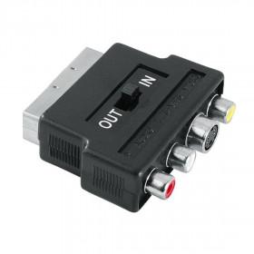 Hama 7122238 3 x RCA/S-VHS SCART Nero cavo di interfaccia e adattatore