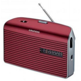 Grundig Music 60 Personale Analogico Rosso, Argento radio