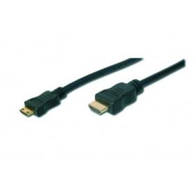 ASSMANN Electronic AK-330106-030-S cavo HDMI 3 m HDMI Type A (Standard) HDMI Type C (Mini) Nero