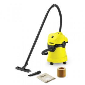 Kärcher WD 3 1000 W Aspiratore senza sacchetto Secco e bagnato Sacchetto per la polvere 17 L