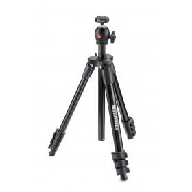 Manfrotto MKCOMPACTLT-BK treppiede Fotocamere digitali/film 3 gamba/gambe Nero