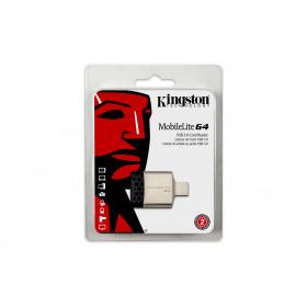 Kingston Technology MobileLite G4 lettore di schede Nero, Grigio USB 3.0