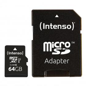 Intenso 64GB microSDXC memoria flash Classe 10 UHS-I